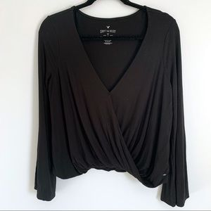 AMERICAN EAGLE Soft & Sexy Draped Front Top